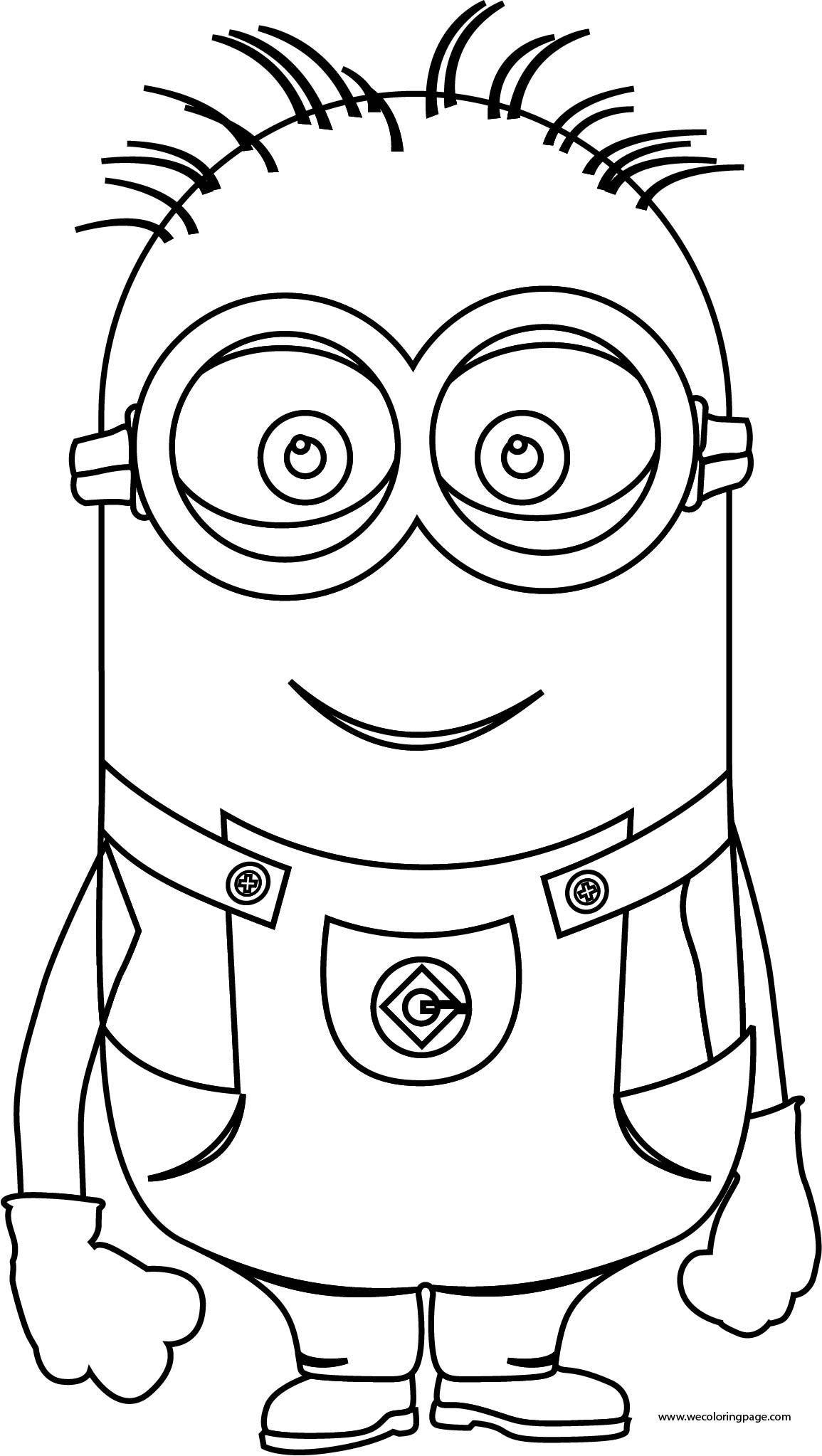 Tall Big Minion Coloring Page