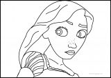 Tangled Coloring Pages Look