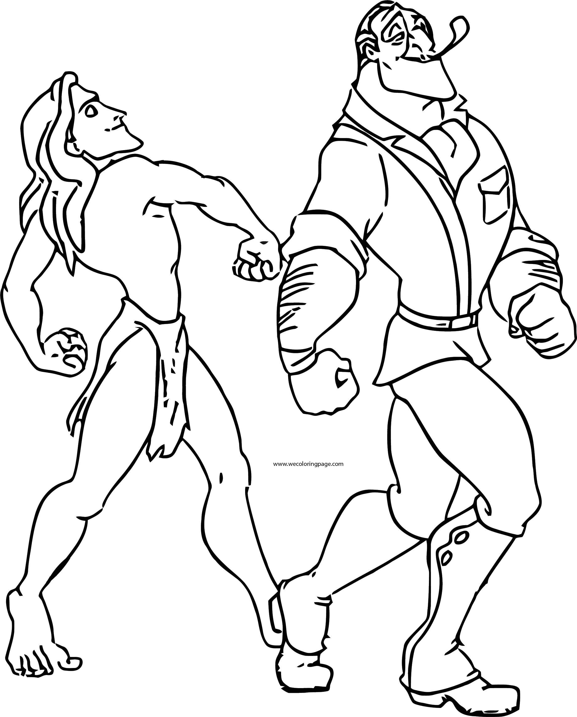 Tarzan Follow Clayton Coloring Page
