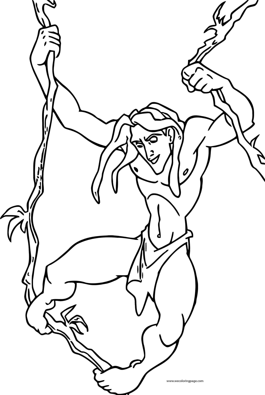 Tarzan Hang Coloring Page