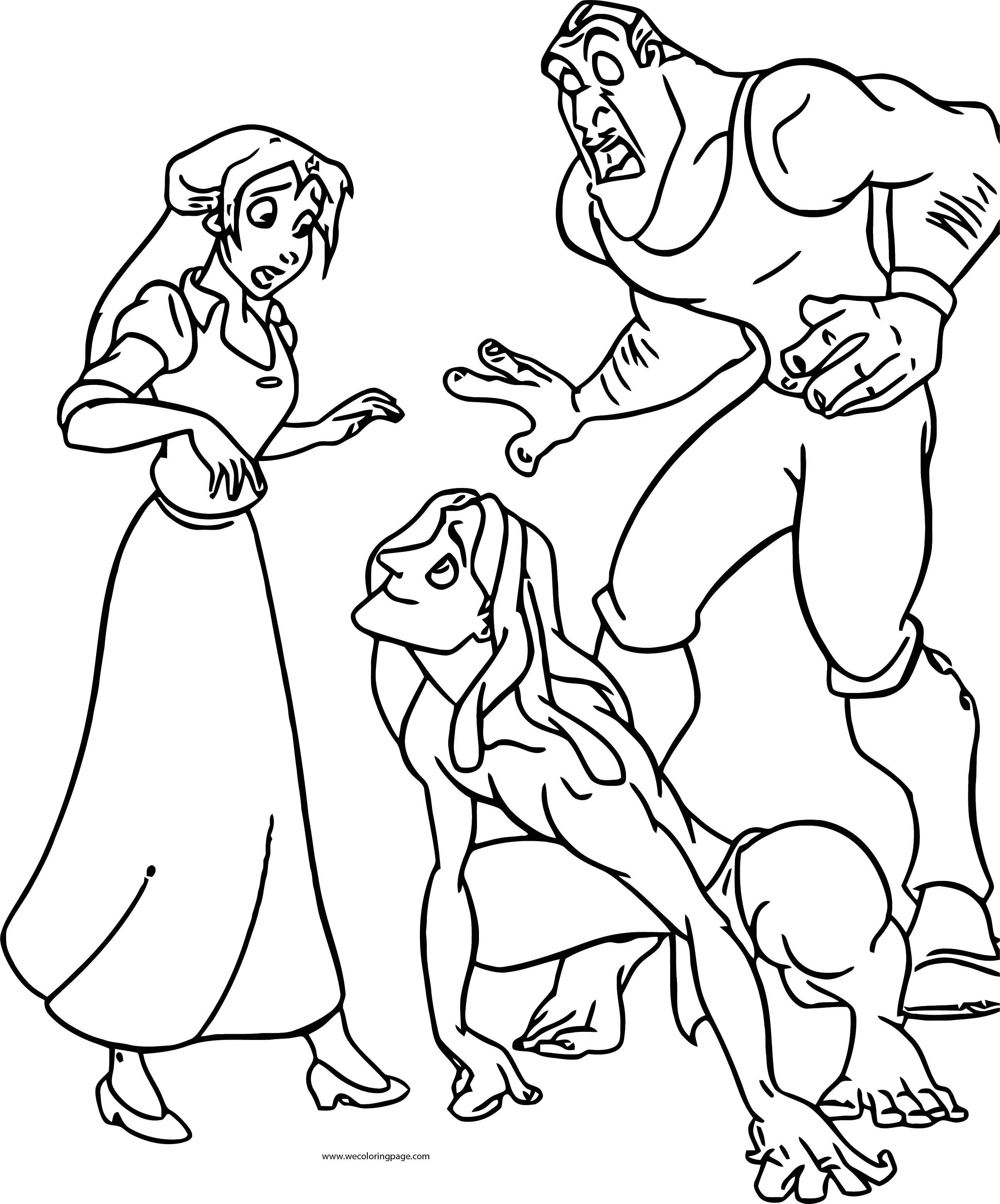 Tarzan Jane Gang Clayton Coloring Page