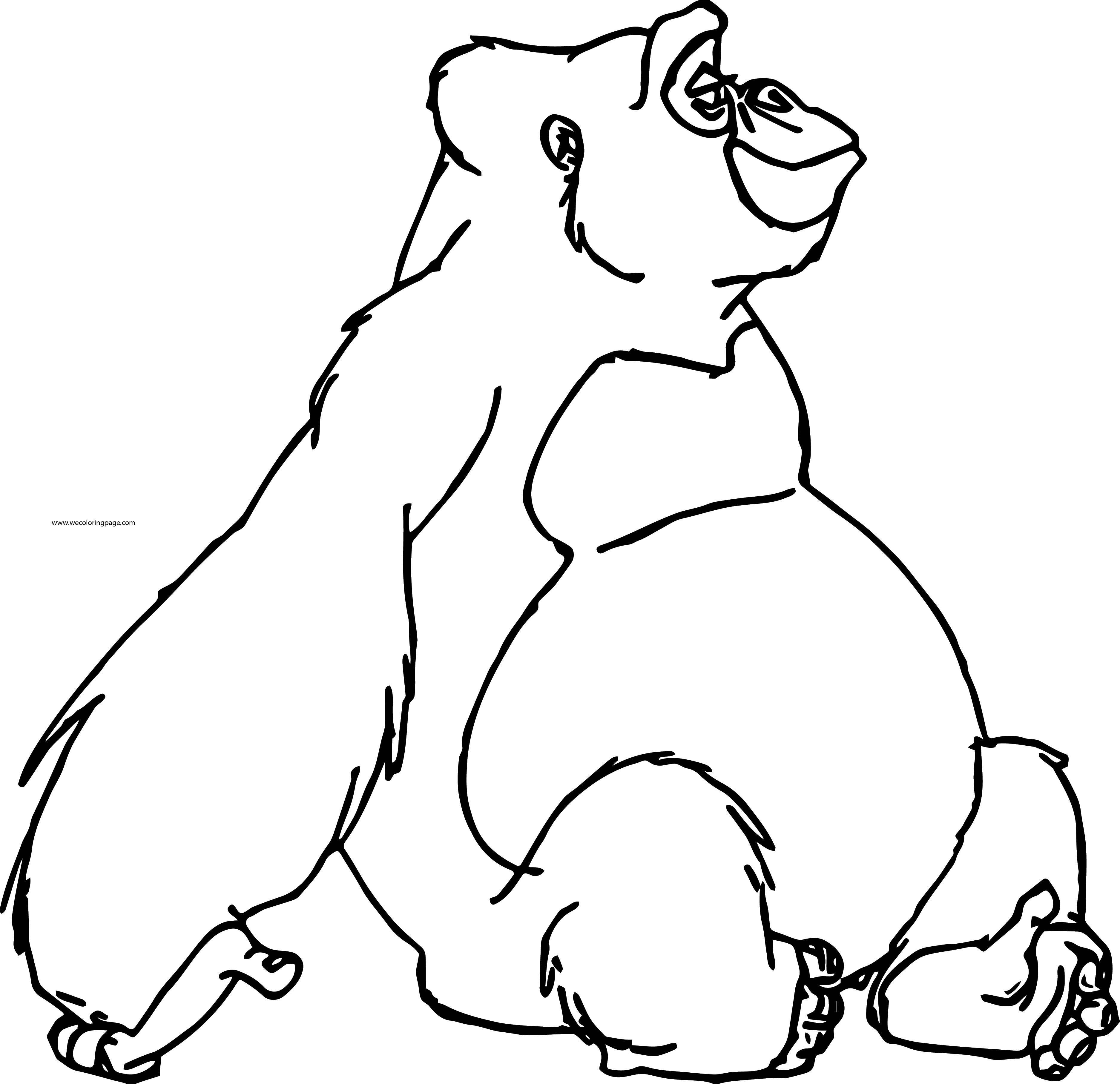 Tarzan Kala And Kerchak Coloring Pages 06