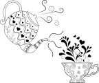 Tea Drawing Pot Cup Coloring Page