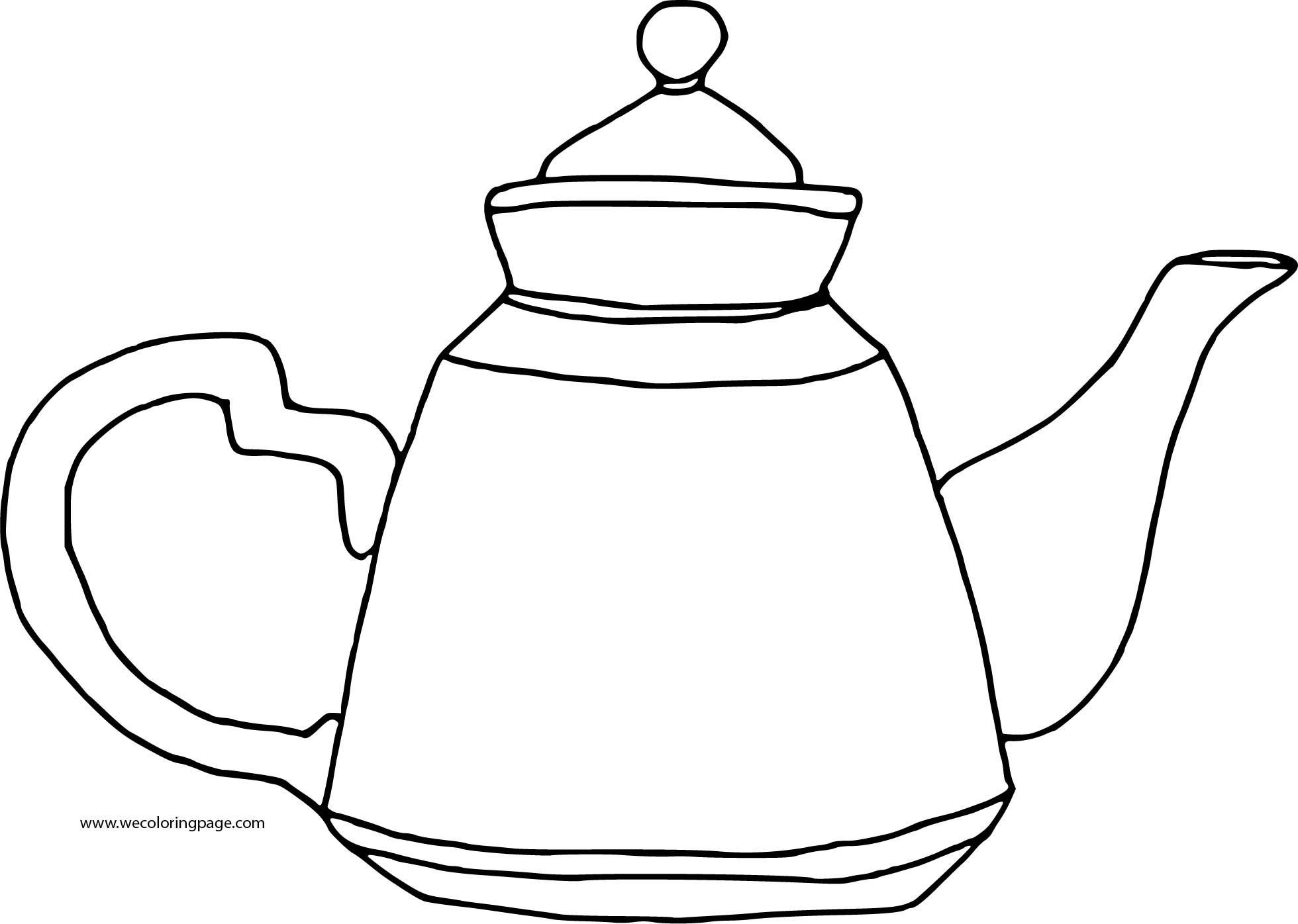 Teapot Basic Coloring Page