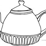 Teapot Fat Coloring Page