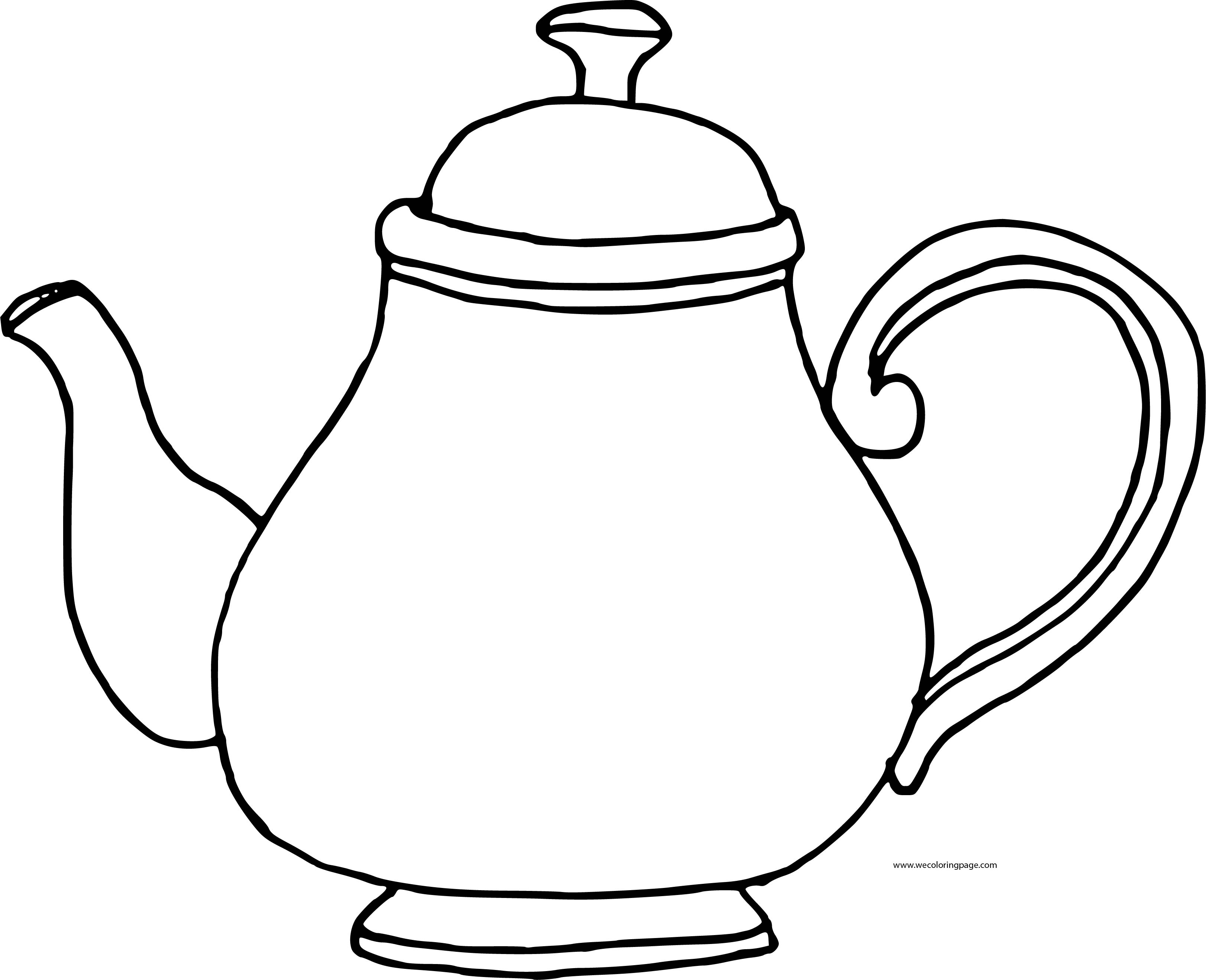 Teapot Good Coloring Page