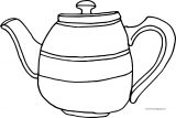Teapot Just Coloring Page