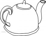 Teapot Simple Coloring Page