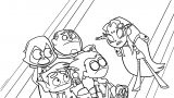 Teen Titans Go Mrbutt Angry Coloring Page
