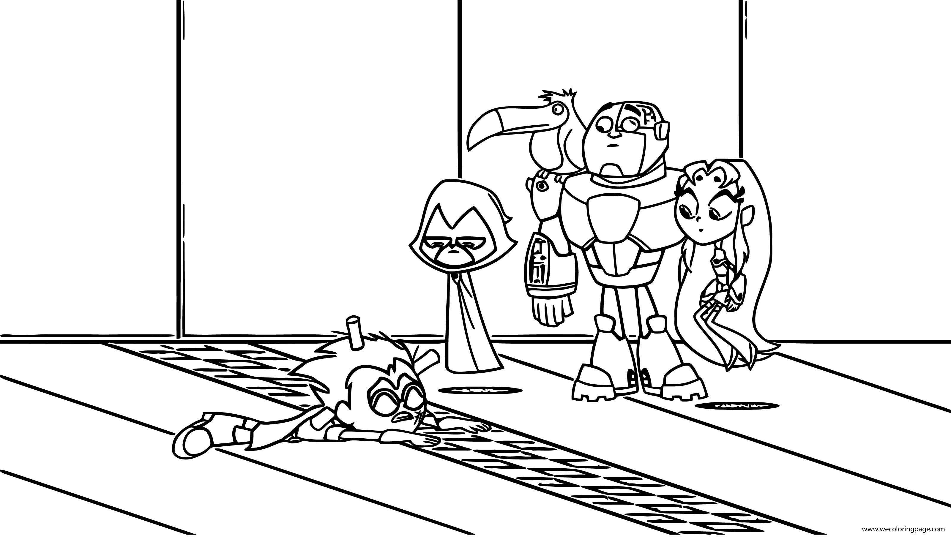 Teen Titans Go Nopower Coloring Page