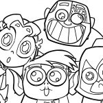 Teen Titans Go Robin Big Team Coloring Pages
