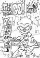 Teen Titans Go Robin Cover Rules Sketch Download Coloring Page