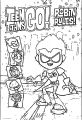 Teen Titans Go Robin Rules Cover Coloring Page
