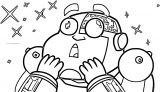 Teen Titans Go Robot Beastman Still Coloring Page