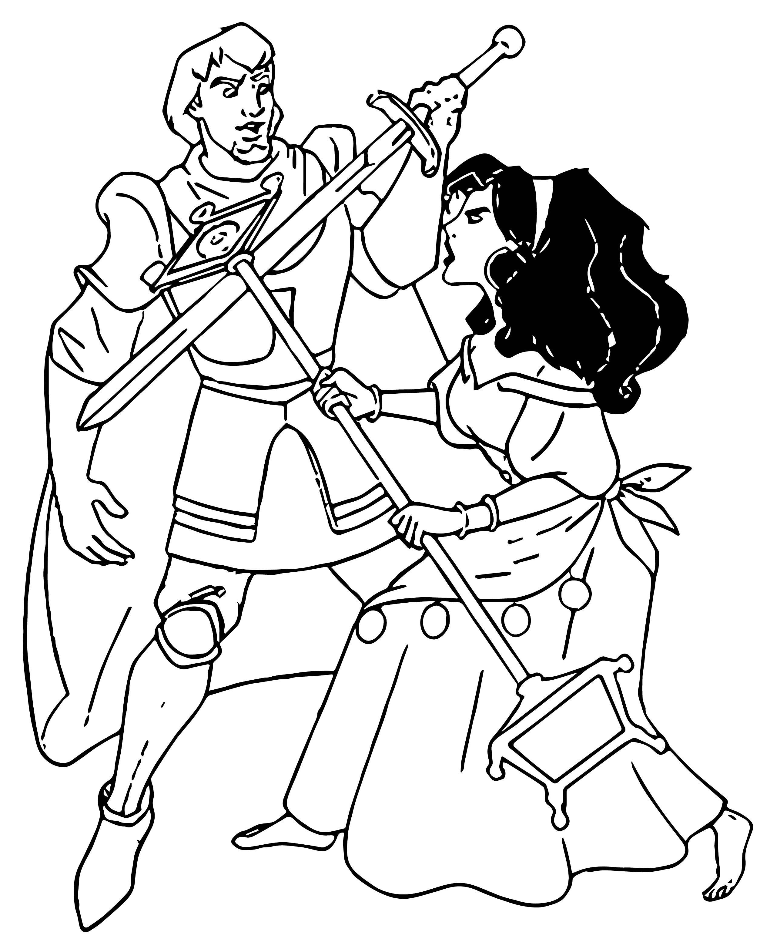 The Hunchback Of Notre Dame Esf Coloring Page