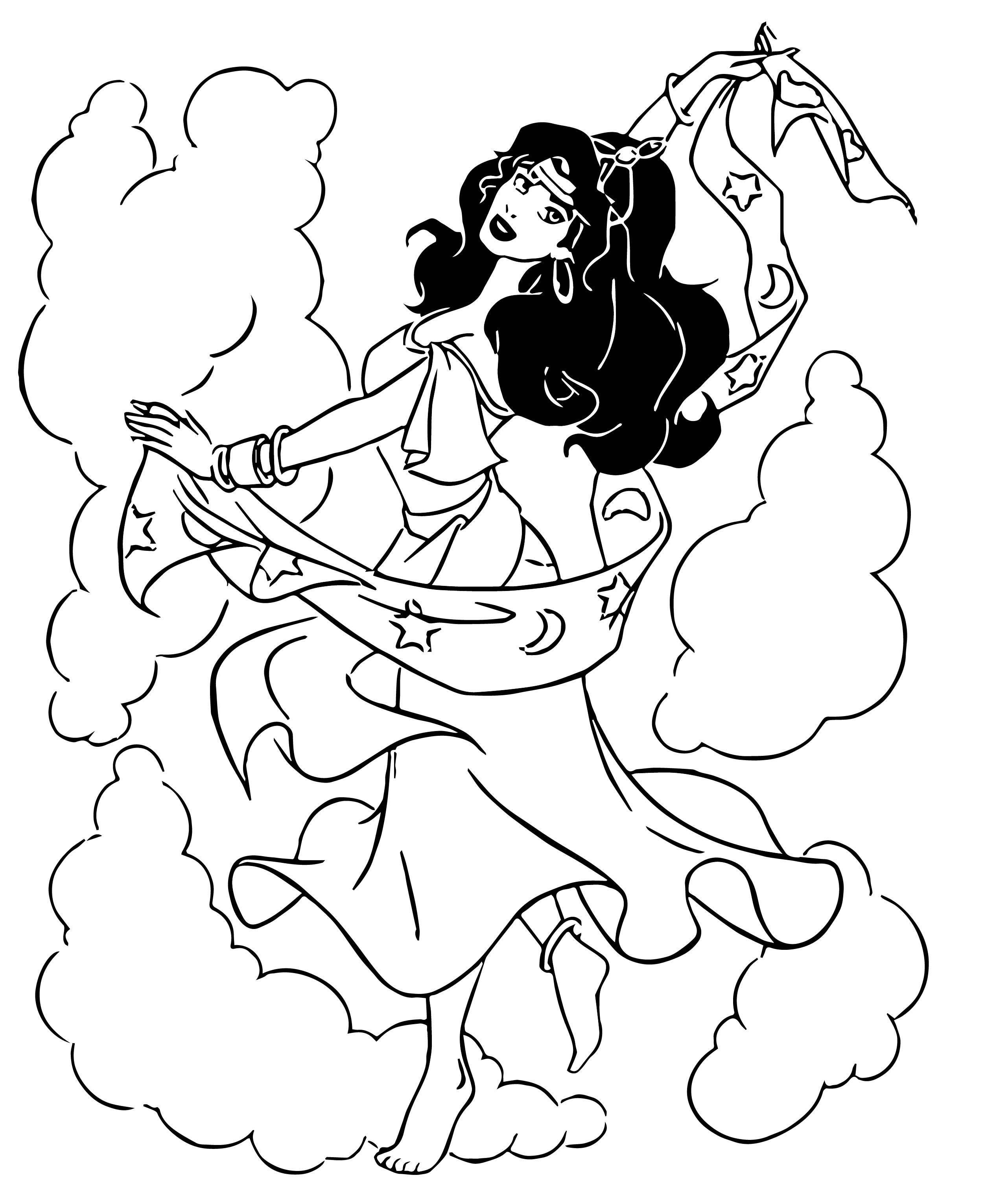 The Hunchback Of Notre Dame Esmeralda Dance Coloring Page ...