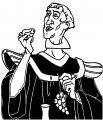 The Hunchback Of Notre Dame Frollo Grapes Coloring Page