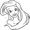 The Little Mermaid Excited Face Coloring Page