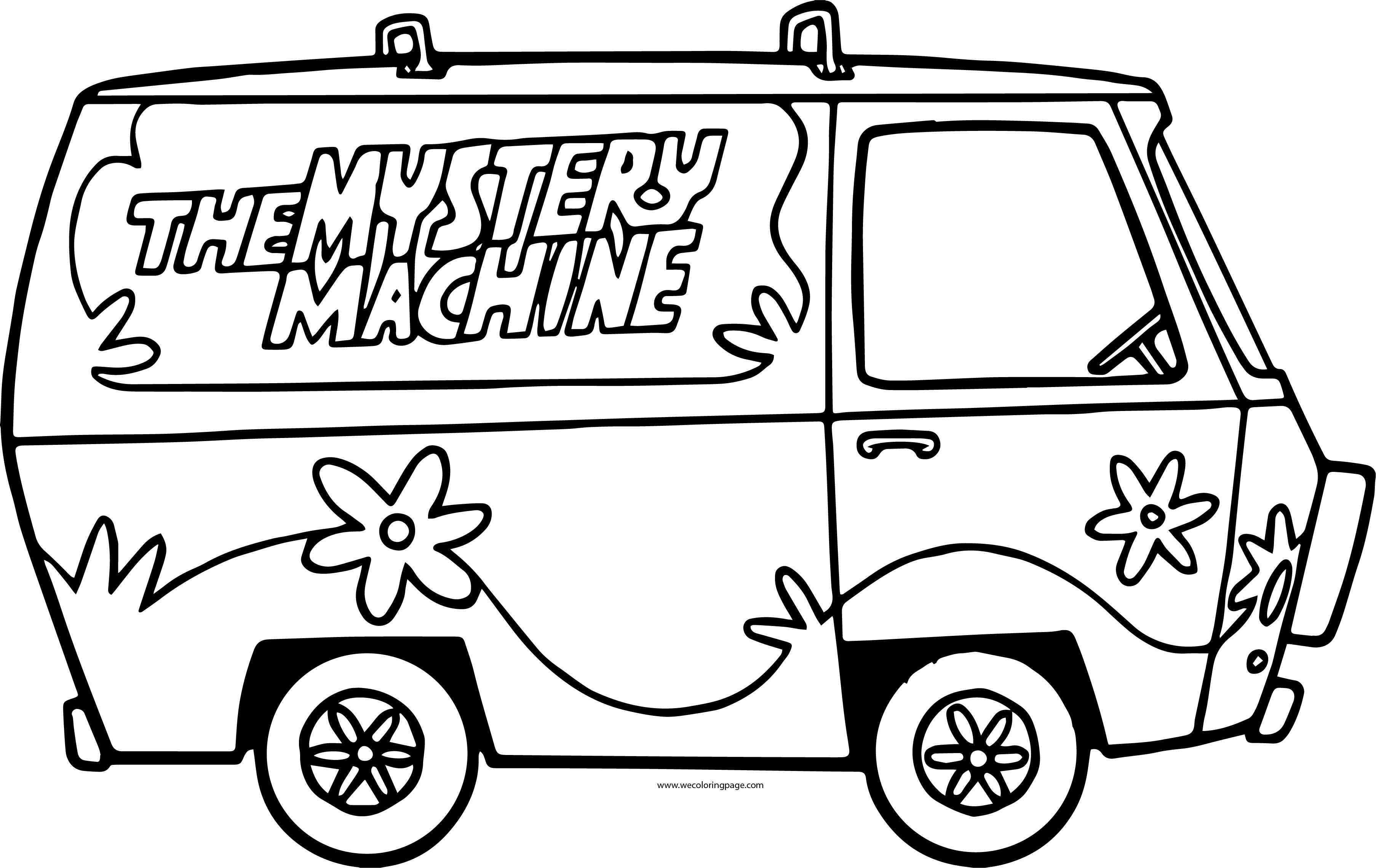 The Scooby Doo Mystery Machine Car Side Coloring Page ...