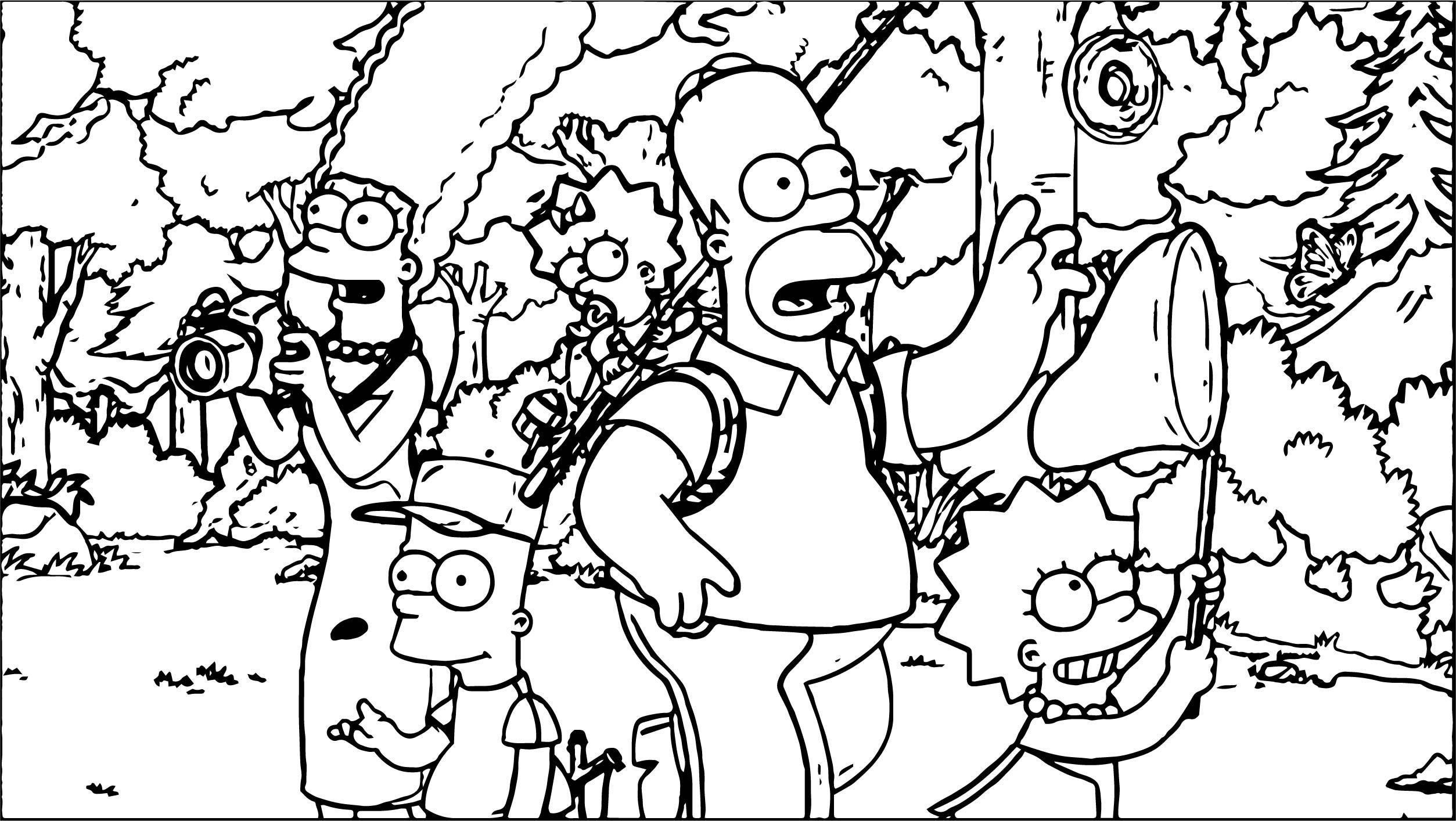The Simpsons Coloring Page 002   Wecoloringpage.com