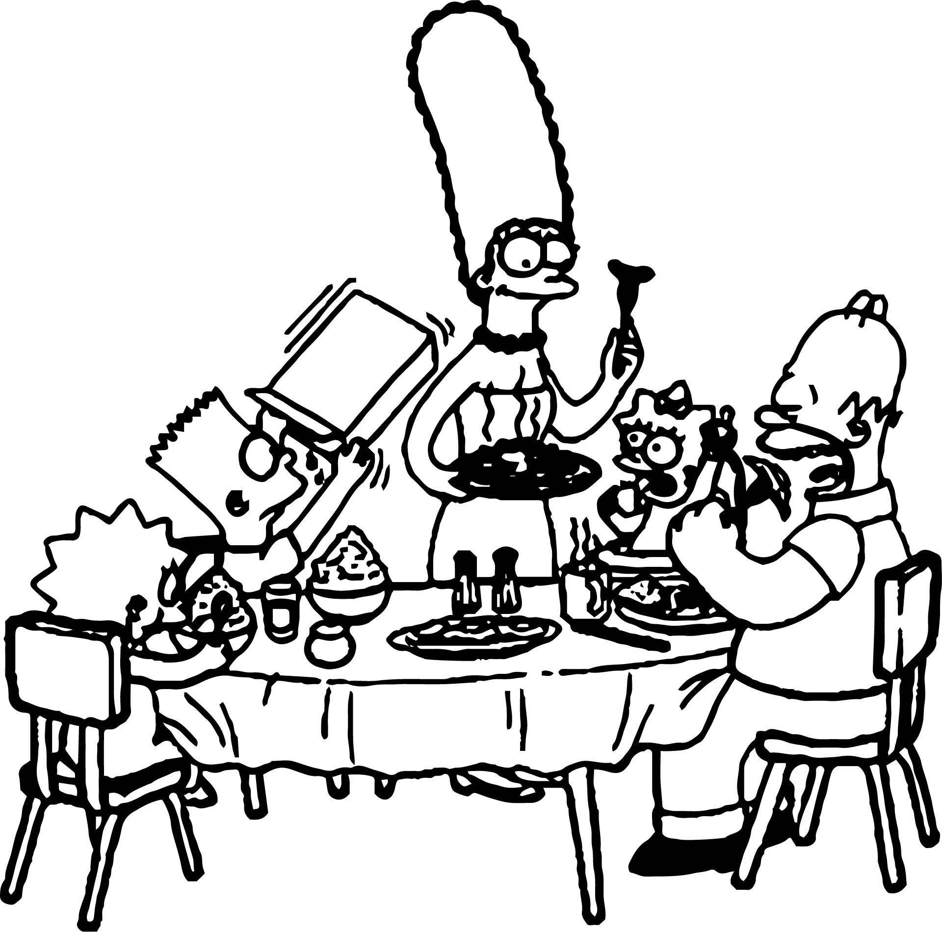 The Simpsons Coloring Page 006 Wecoloringpage Com