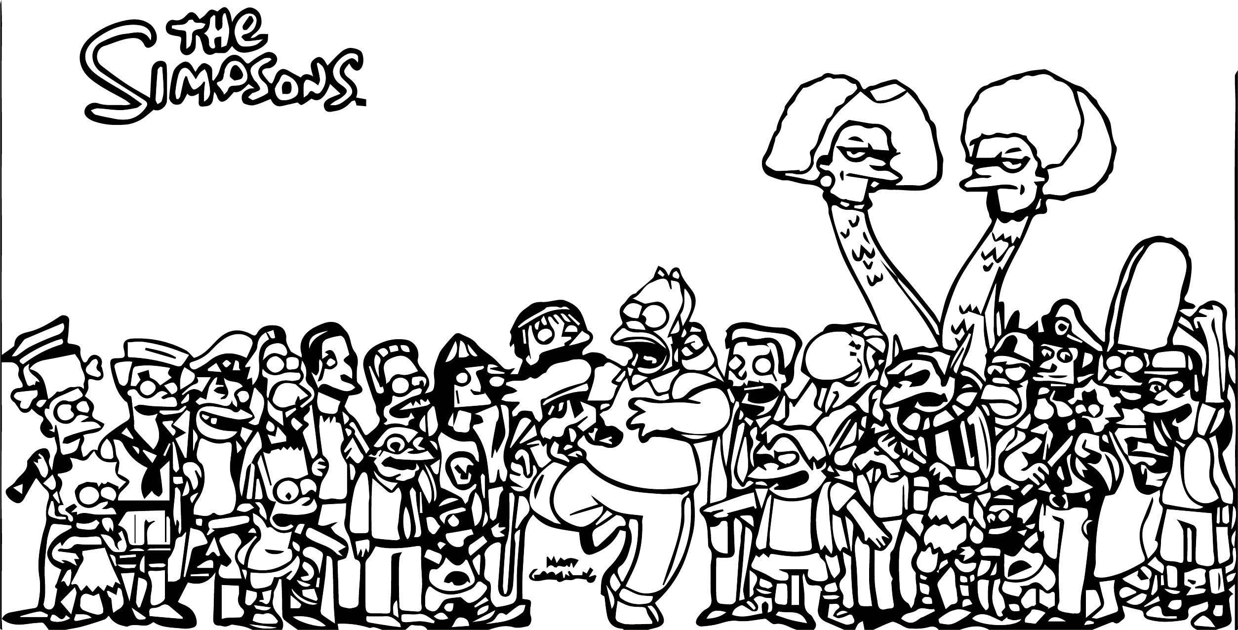 The Simpsons Coloring Page 012