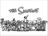 The Simpsons Coloring Page 015