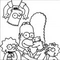 The Simpsons Coloring Page 026
