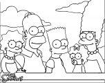The Simpsons Coloring Page 038