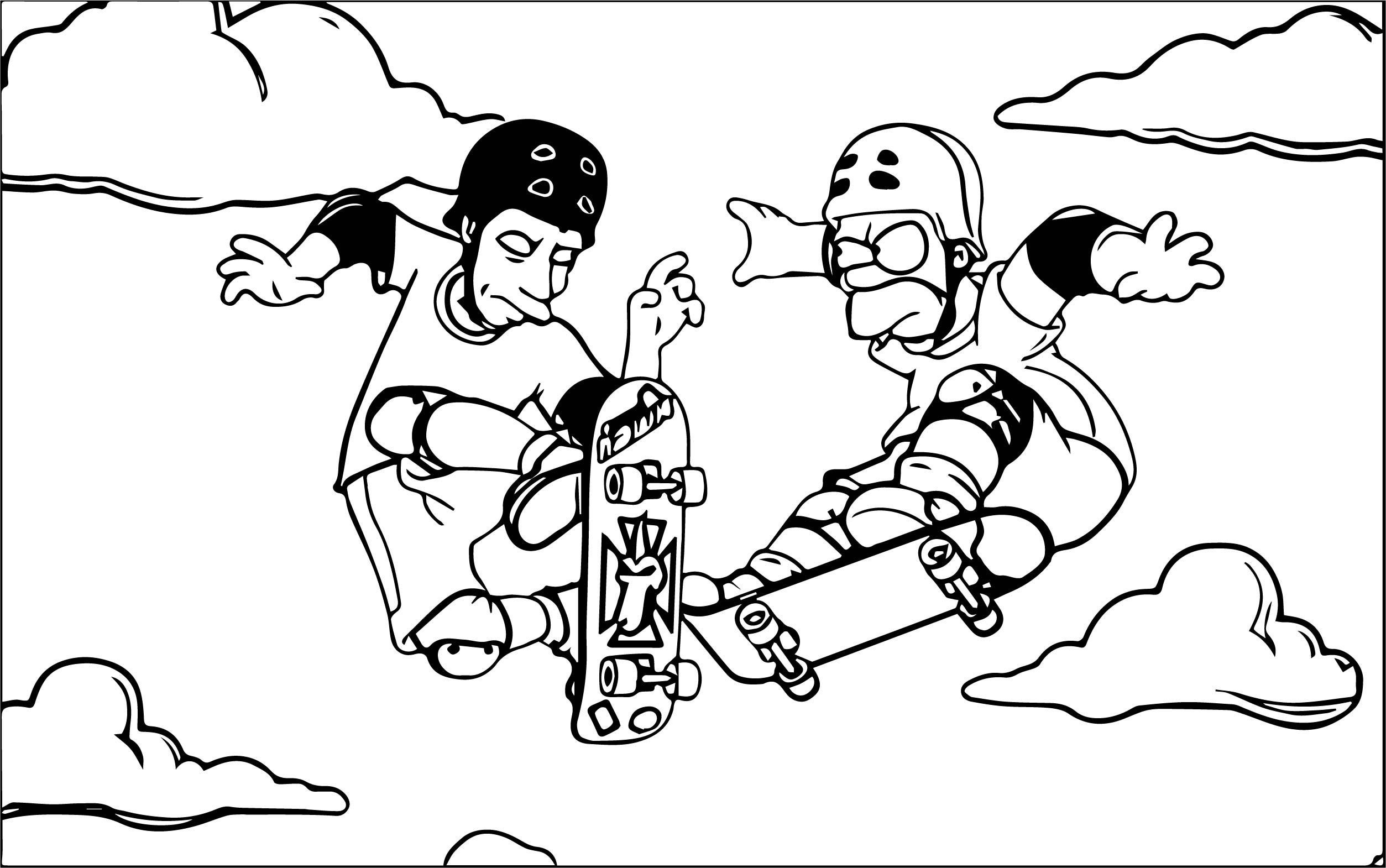 The Simpsons Coloring Page 041