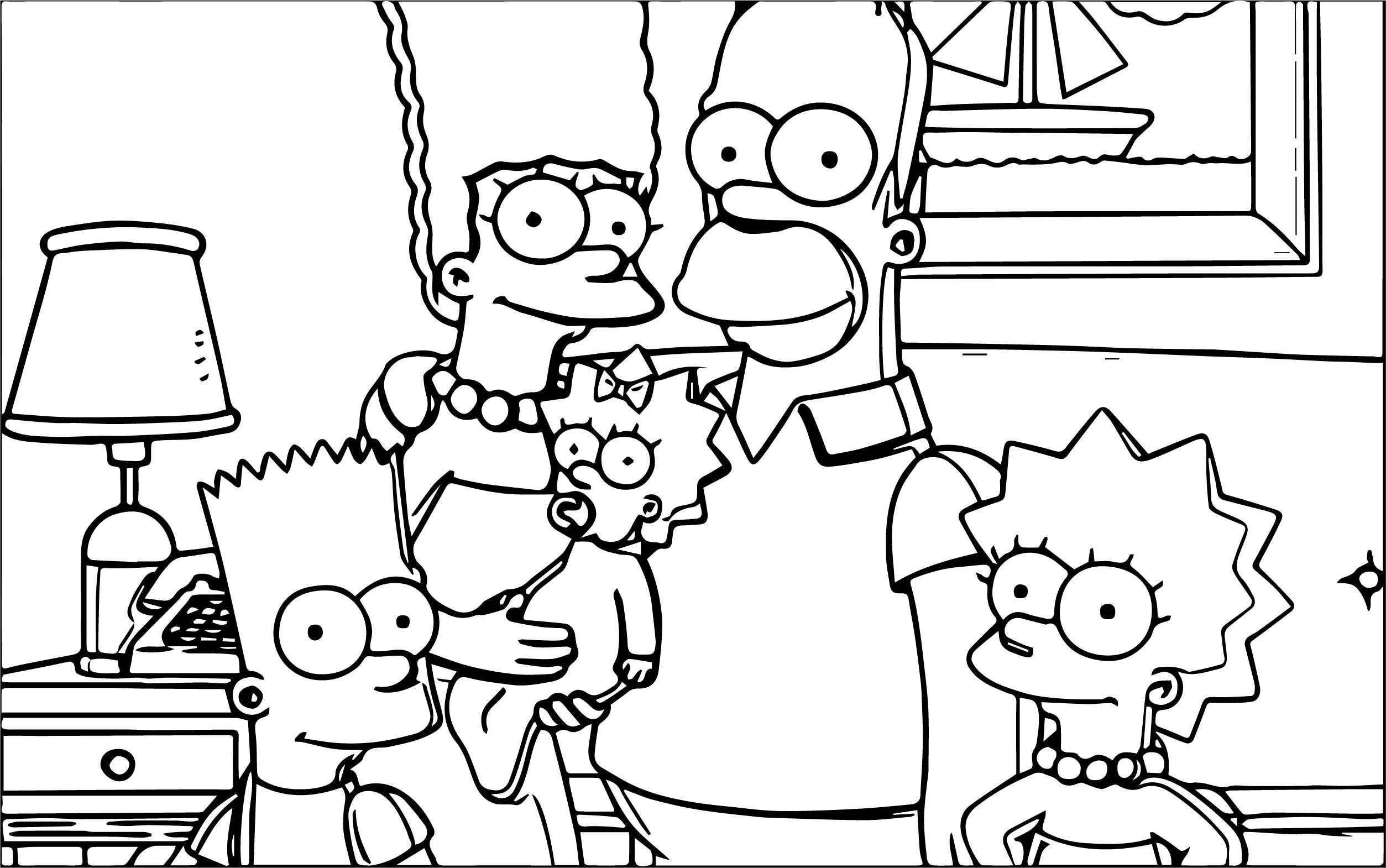 The Simpsons Coloring Page 043