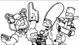 The Simpsons Coloring Page 044