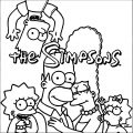 The Simpsons Coloring Page 061