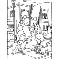 The Simpsons Coloring Page 063