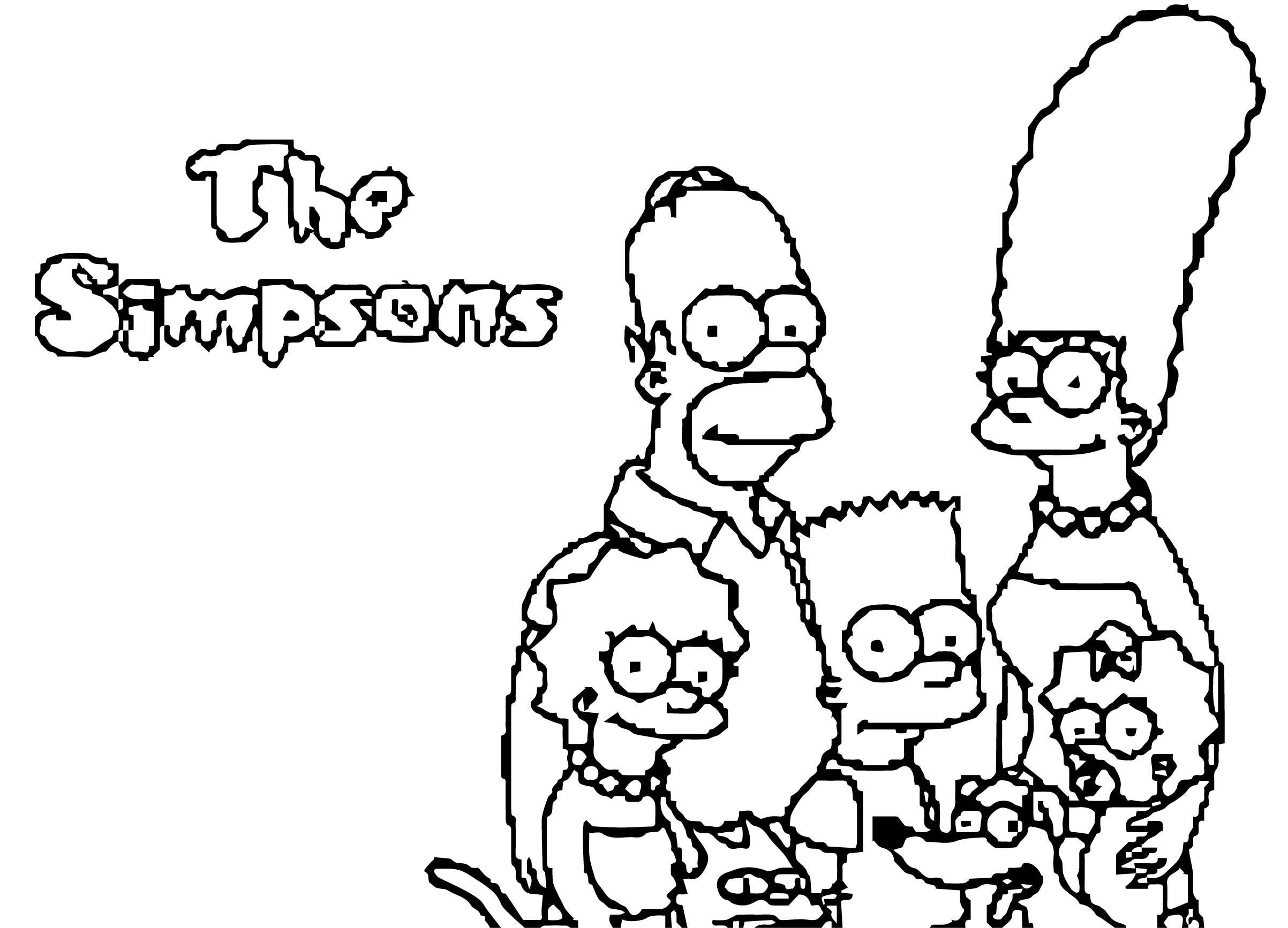 The Simpsons Coloring Page 071