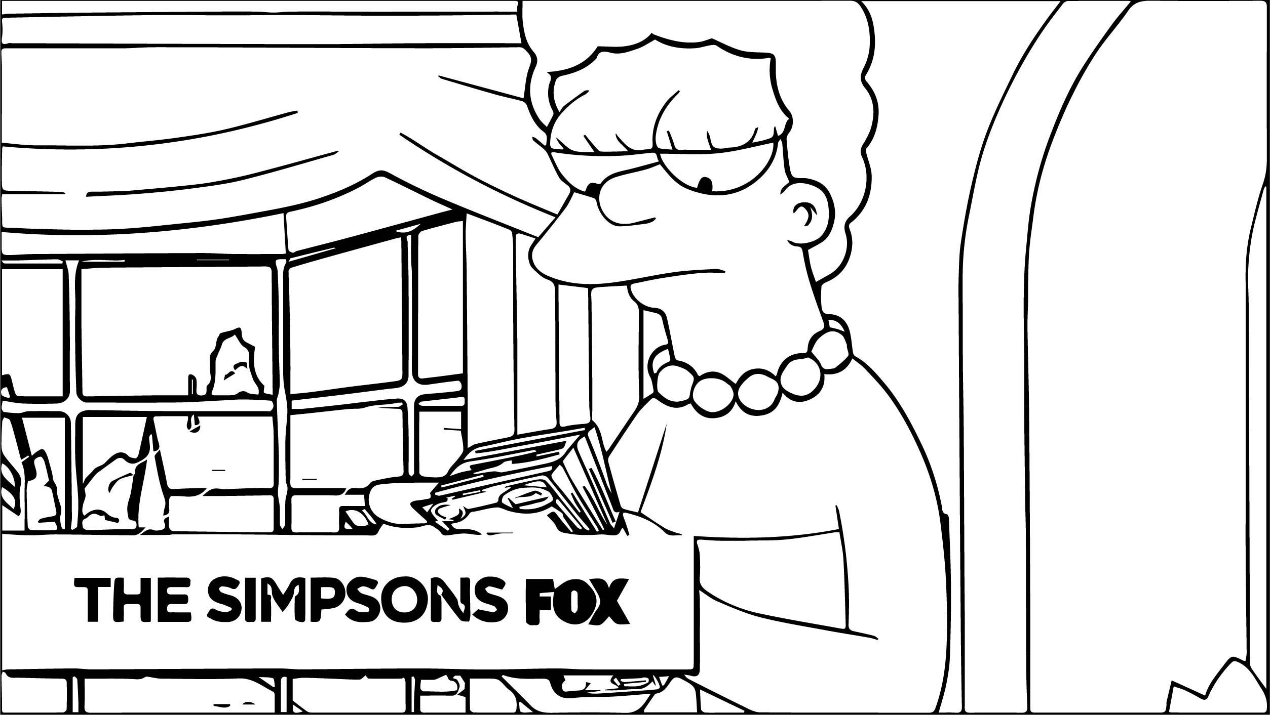 The Simpsons Coloring Page 079
