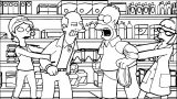 The Simpsons Coloring Page 080