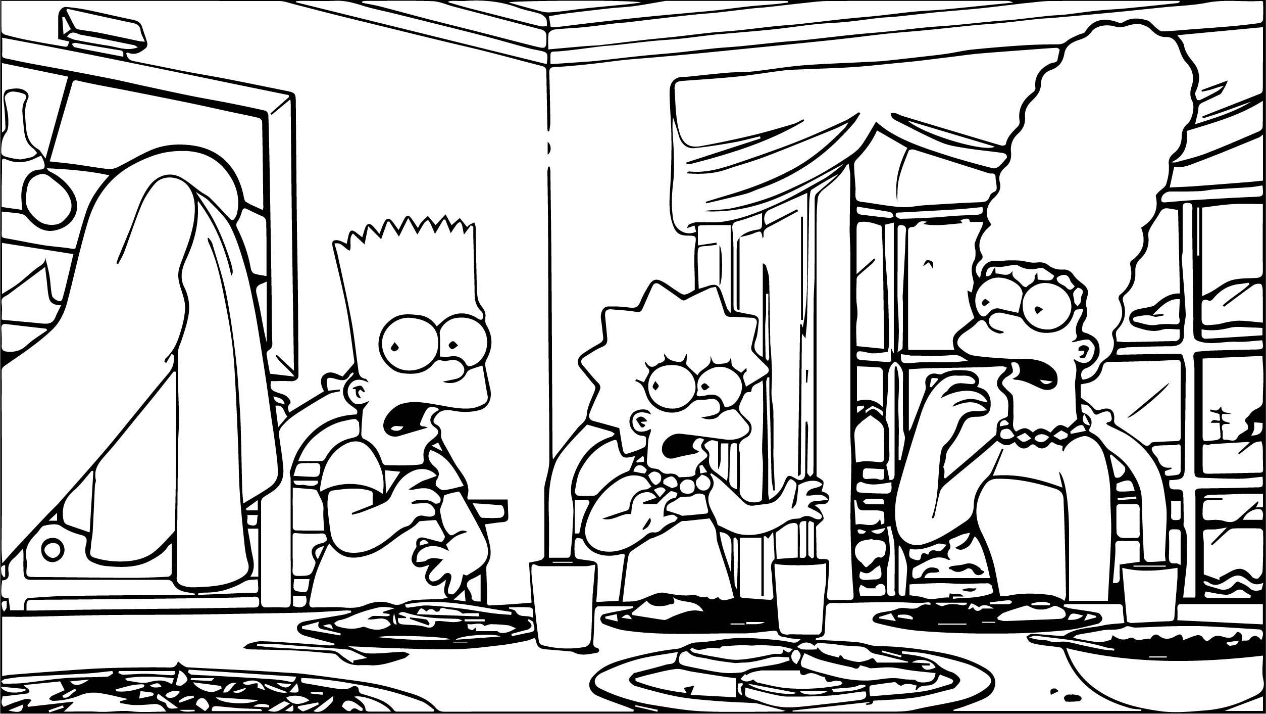 The Simpsons Coloring Page 081