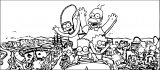 The Simpsons Coloring Page 092