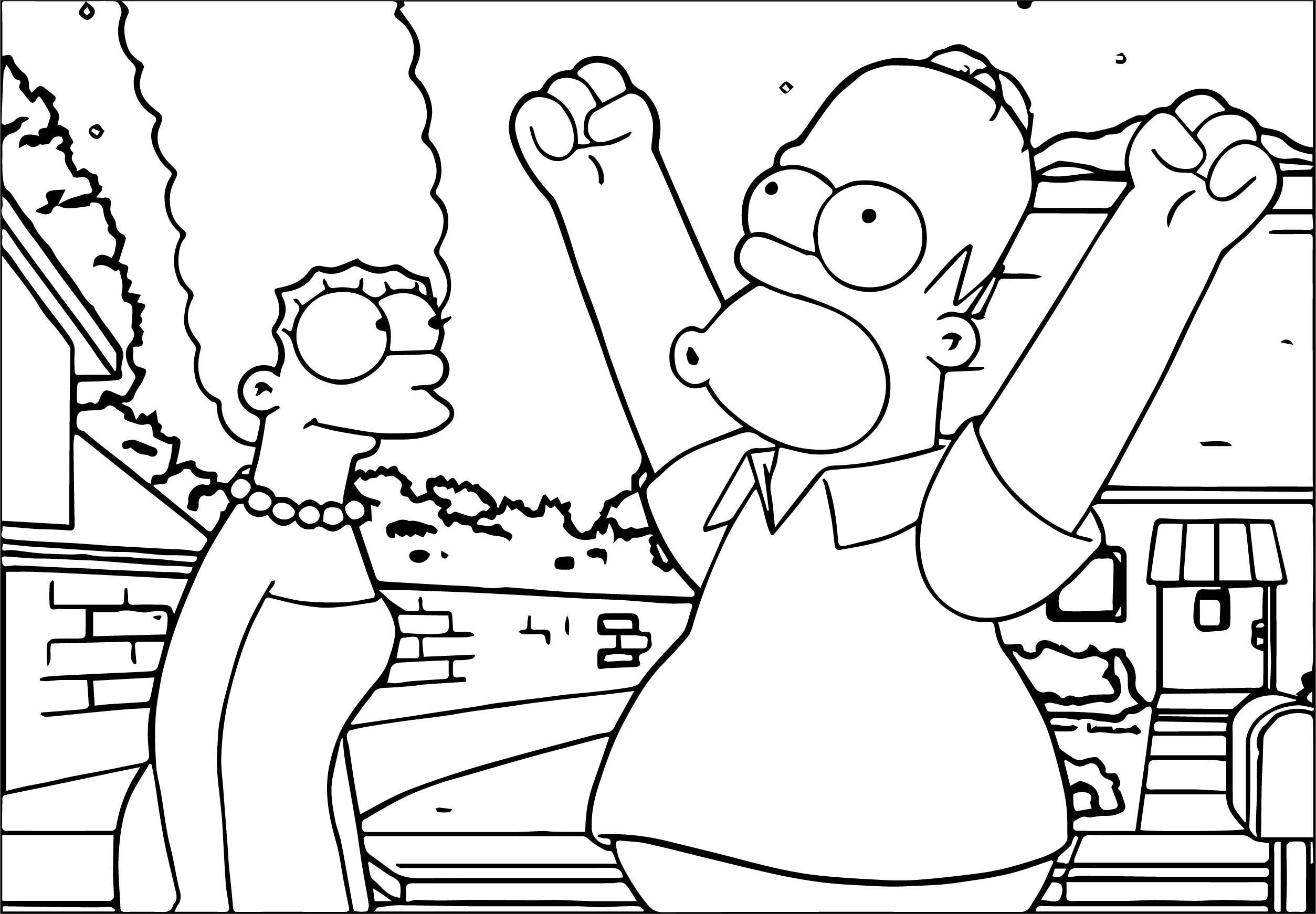 The Simpsons Coloring Page 097