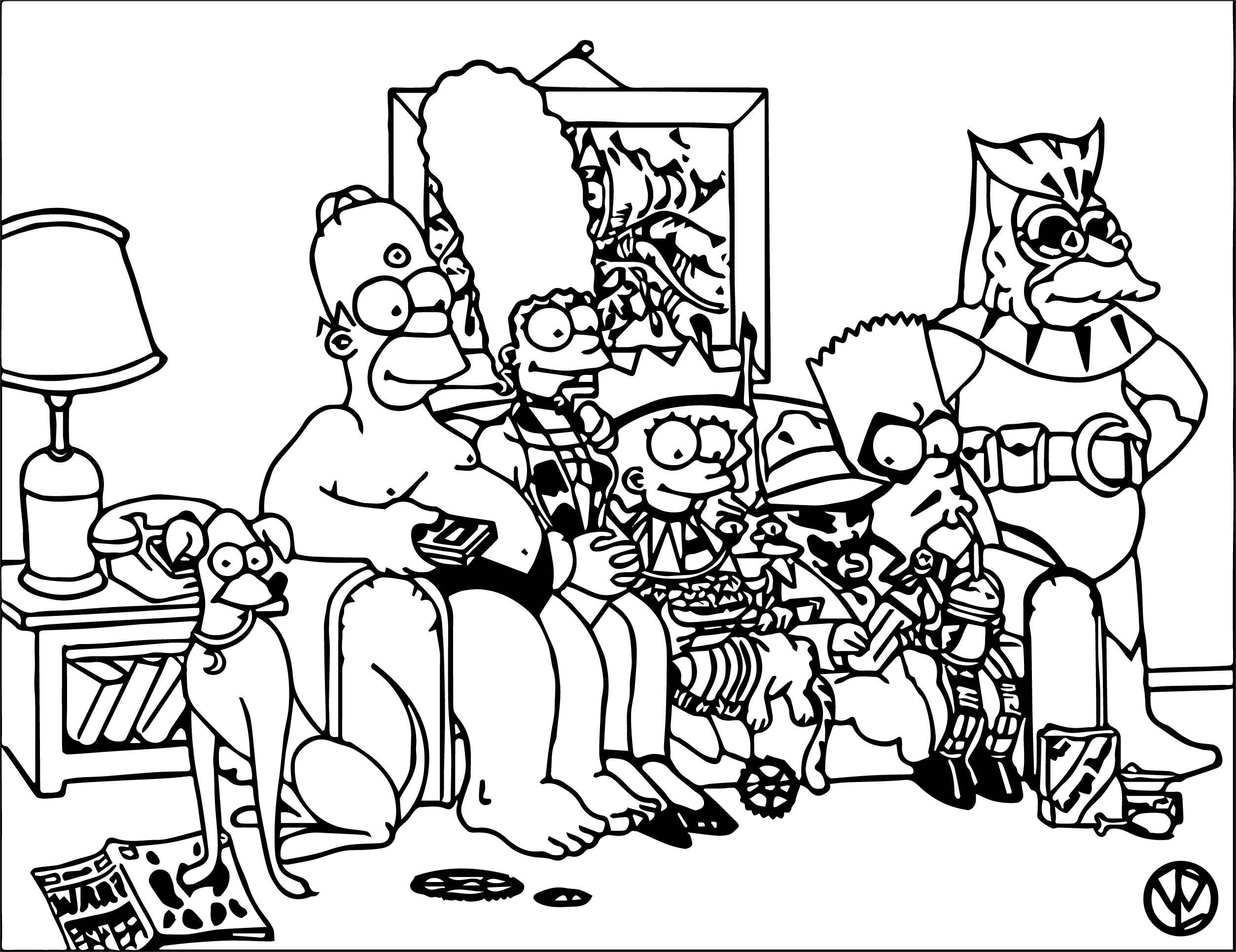 The Simpsons Coloring Page 102