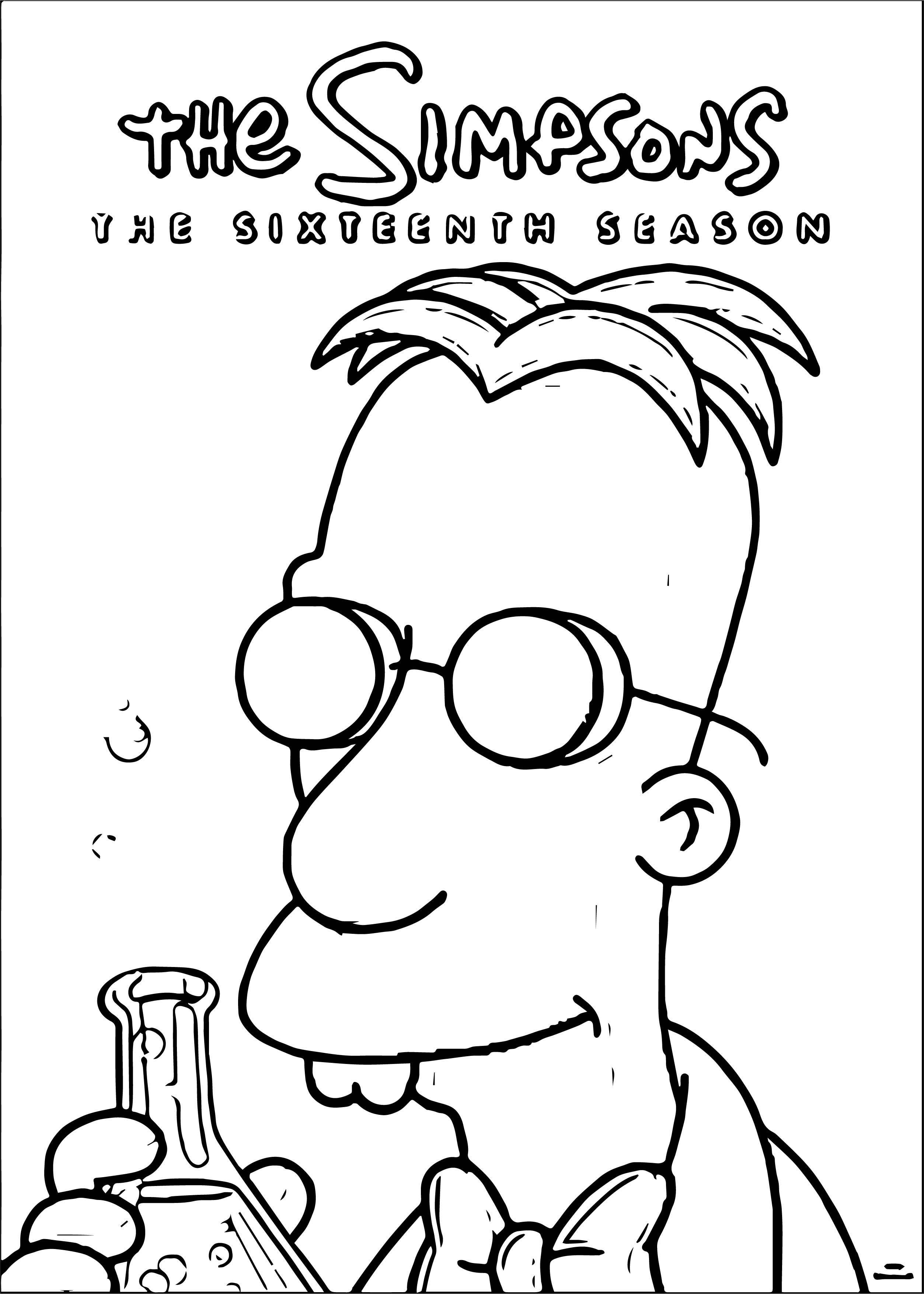 The Simpsons Coloring Page 111
