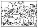 The Simpsons Coloring Page 114
