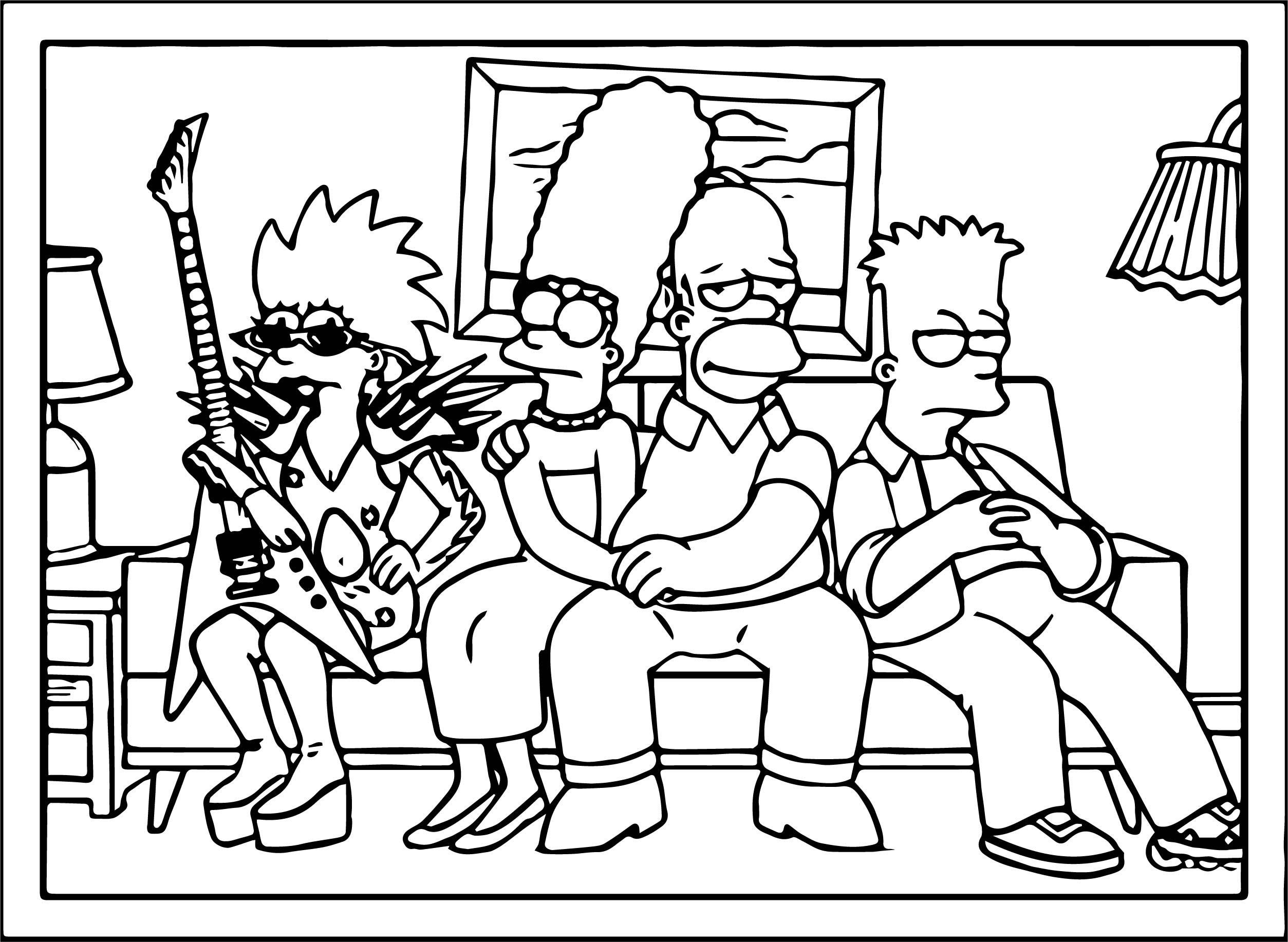 The Simpsons Coloring Page 115