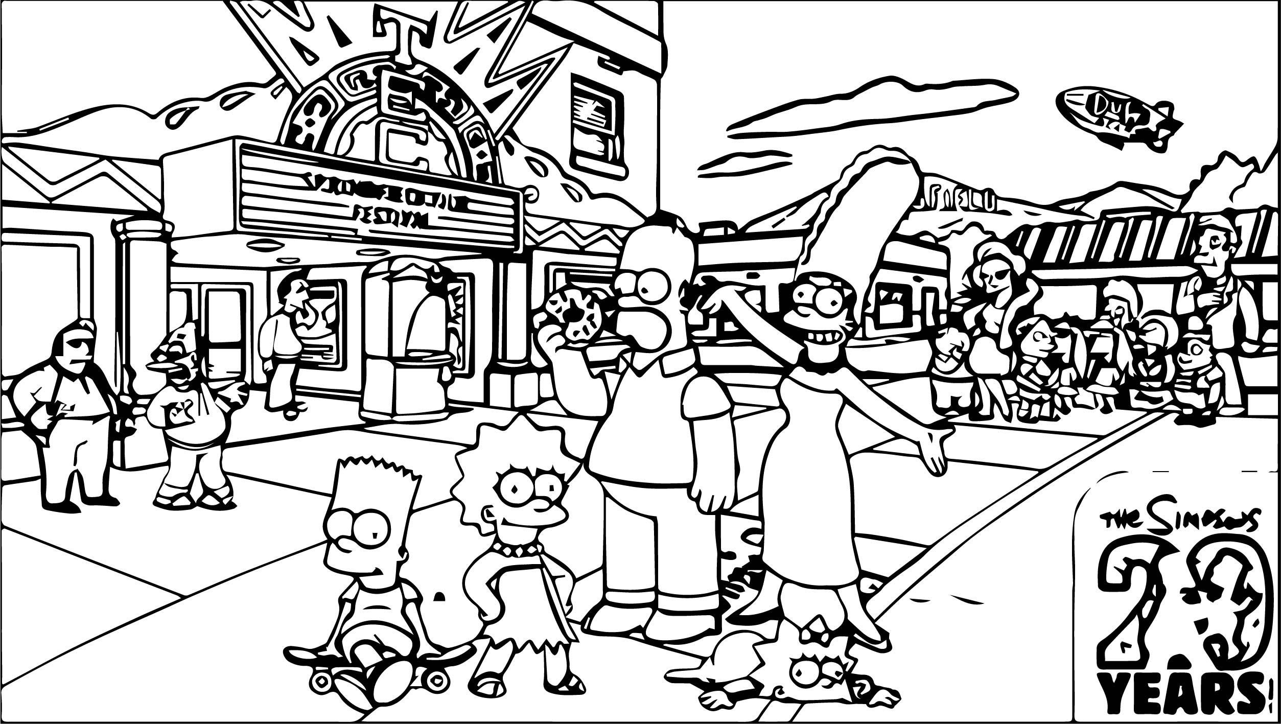 The Simpsons Coloring Page 117
