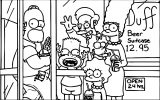 The Simpsons Coloring Page 135