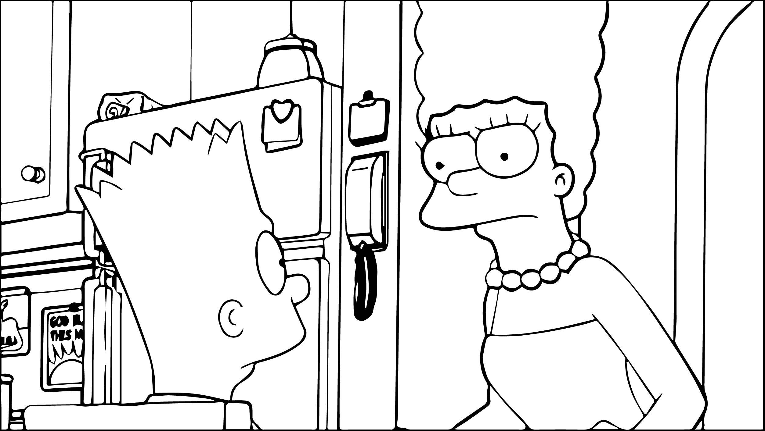 The Simpsons Coloring Page 139