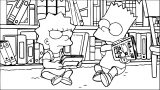 The Simpsons Coloring Page 140