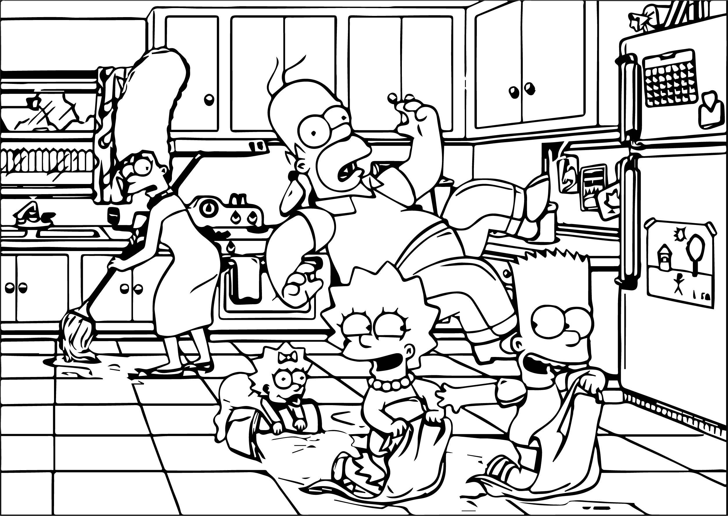 The Simpsons Coloring Page 146