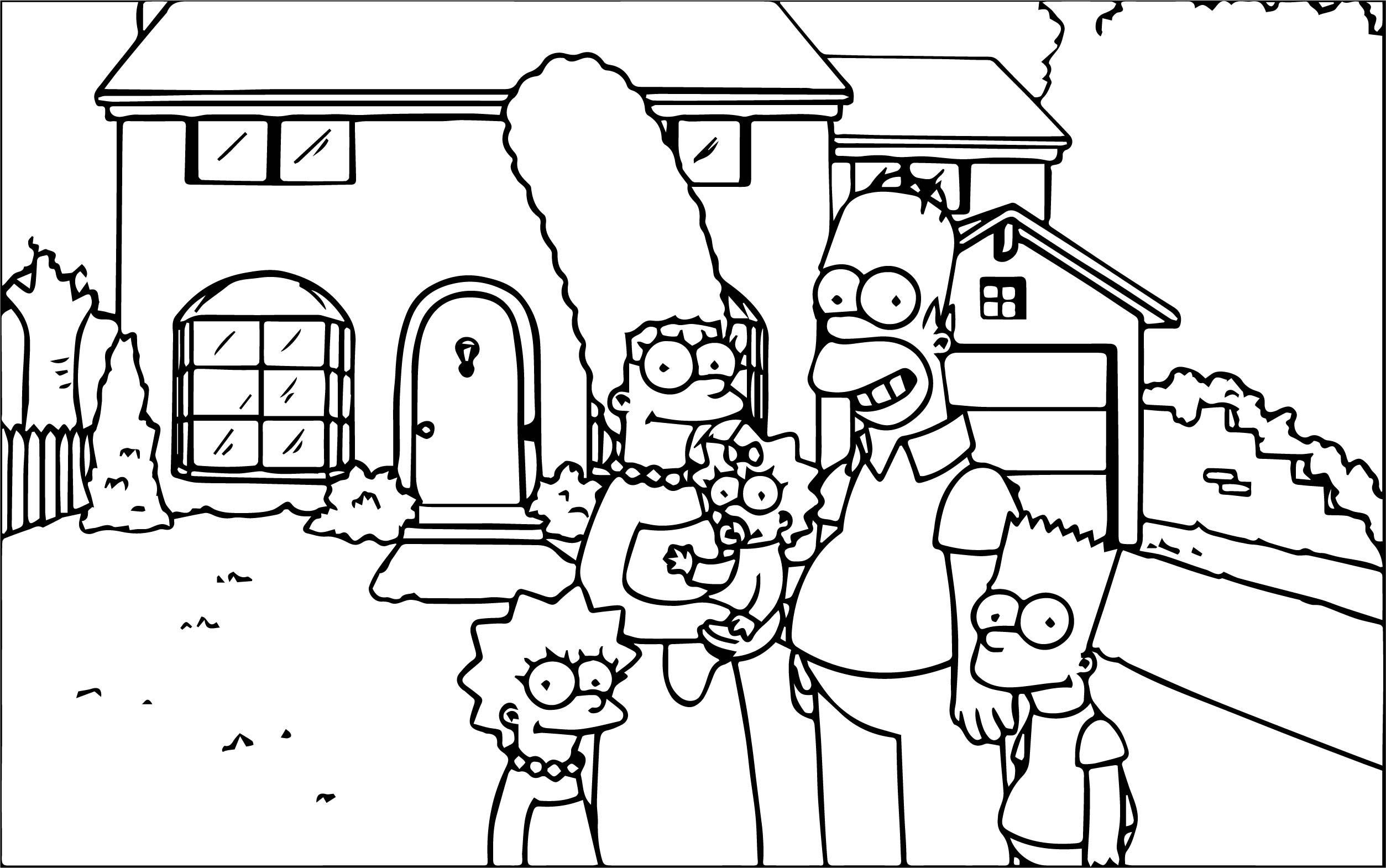 The Simpsons Coloring Page 154